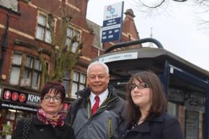 Moseley and Kings Heath Councillors at Bus Stop